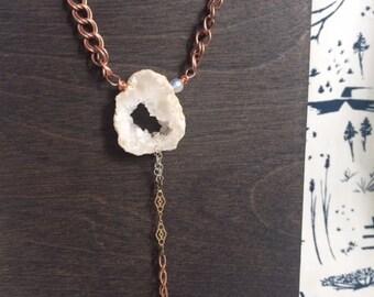 Geode Raindrop Necklace