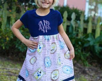 Disney  Princess inspired Monogramed T-shirt Dress