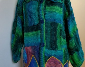 """Knitted jacket """"Beach Huts"""""""