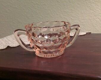 Vintage Fostoria American Pink Sugar Bowl (1950s)