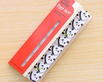 Cute Panda Sticky Notes / Peep Out Stick Marker / Cute Sticky Notes / Kawaii Sticky Notes / Post-It / Cute Animal Sticky Notes Tabs