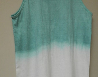 Tie Dye acid wash vest top sleeveless T shirt hipster festival grunge Retro punk OMBRE 80s 90s indie dip dye indie skate rave tank top