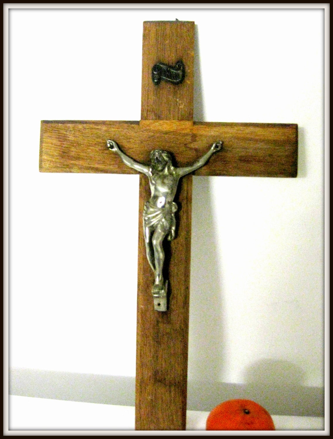Wall Decor Jesus : Primitive cross antique old religious wall decor art crucifix
