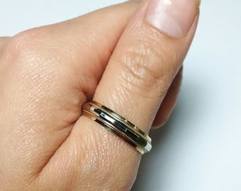 Vintage 10K Gold Geometric Ring Band *ON SALE for a limited time*