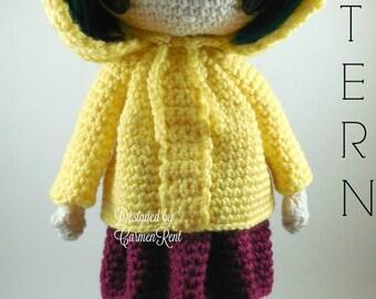 Coraline  - Amigurumi Doll Crochet Pattern PDF