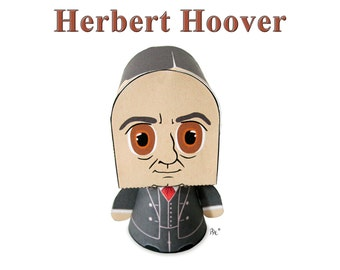 President Herbert Hoover Paper Toy Model w/Movable Parts