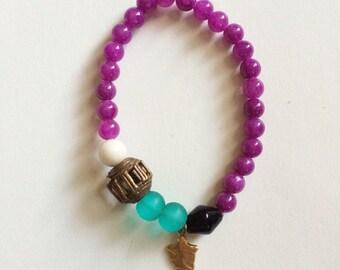magenta arrowhead bracelet