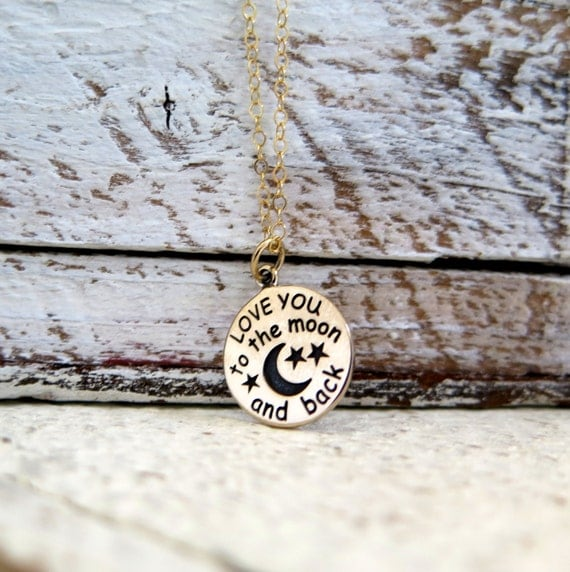 Love You To The Moon And Back Necklace, Love You To The Moon Gold Necklace, Love Necklace