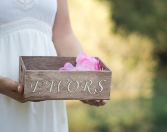 Wedding Favors Box Rustic Sign Favors please take one Wedding Box Wooden Wedding Decor Holder Wedding Favors