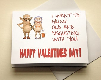 Valentines Card, Naughty Card, Boyfriend , FunnyValentine, Old Couple Card, Card For Wife, Card For Husband, Card For Boyfriend, Adult Humor