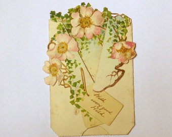 Antique Victorian Christmas card 1890s