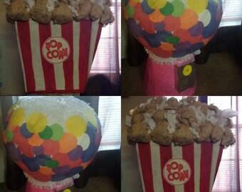 Popcorn Pinata Gumball Machine Pinata
