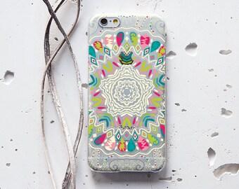 iPhone 6 Case Colorful iPhone 5 Case Mandala Samsung Galaxy S7 Case Cool iPhone Case iPhone 6 Clear Case Samsung Case Protective Case 105