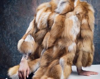 Fox fur coat | Etsy