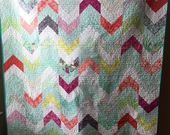 Colorful Lap Quilt with Arrows