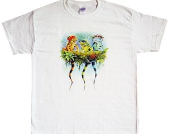 Cool Lizards T-Shirt Adult Kids Boys Girls Mens Womens Animals Cotton White Tee
