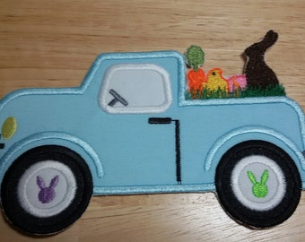 Iron On Applique Easter Truck