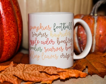 FALL PUMPKINS FOOTBALL Mug