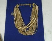 """Vintage Designer Carolee Costume Multi-Strand Necklace 21"""""""