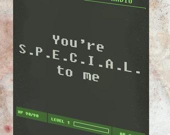 Fallout You're S.P.E.C.I.A.L. Card * Printable