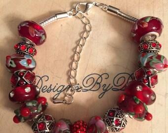 Red European Style Bracelet