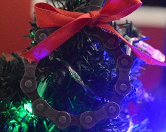 Bike chain wreath