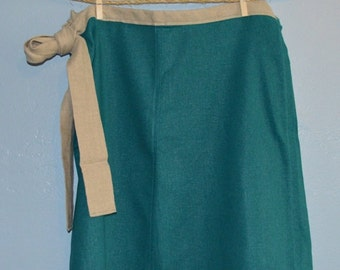 Teal & Flax Linen Wrap-Around Skirt