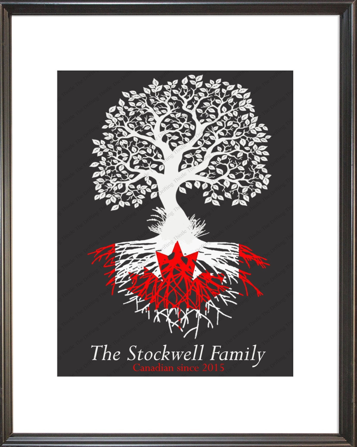 canadian roots family tree canadian flag personalized
