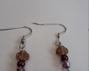 Bronzed earrings
