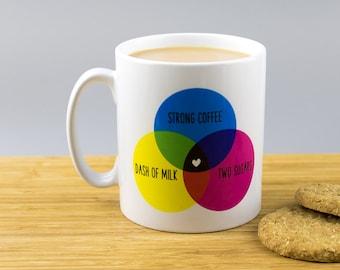 Venn Diagram Perfect Cuppa Mug // Mathematics // Maths // Tea Coffee Lover Gift //