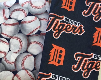 detroit baseball fabric, reversible custom pet bandana, dog scarf, pet scarf, dog bandana, pet clothing, pet attire, baseball bandana