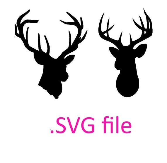 deer head svg design buck head design svg by ohthisdigitalfun Deer Clip Art Printable deer head silhouette clip art navy