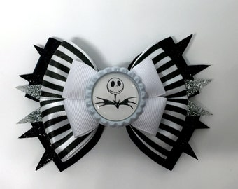 Jack Skellington - Nightmare Before Christmas Hair Bow
