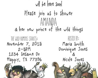 Where the Wild Things Are Shower Invitation