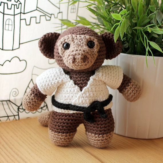 Monkey - Animalius. Amigurumi Pattern PDF, Kimono Animal Toy, Nursery Doll, Crochet Pattern, Cute Children Gift, DIY, Crafts, Digital File