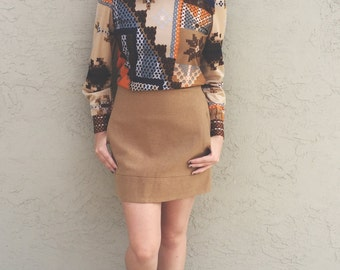Vintage J. Crew wool mini skirt (s/m)