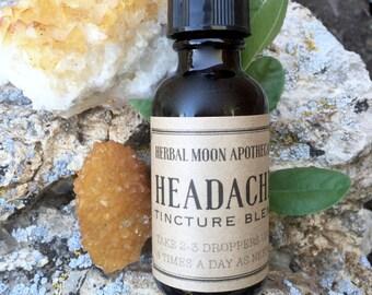 HEADACHE tincture • gluten free • organic herbal remedy for headaches, migraines, stress and tension • vegan friendly • gluten-free