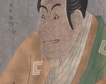 Toushuusai Sharaku(東洲斎写楽筆)1763-1820 市川鰕蔵の竹村定之進 Sadanoshin Takemura of Ebizou  Ichikawa Ukiyo-e  Woodblock  Prints