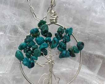 Turquoise ~ Tree of Life Pendant