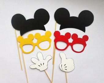 Photo booth props Mickey Mouse photo booth props Mickey Mouse ears Mickey Mouse decorations Mickey Mouse cutouts Clubhouse décor