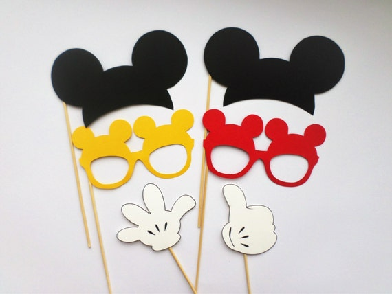 Photo booth props Mickey Mouse photo booth props Mickey Mouse