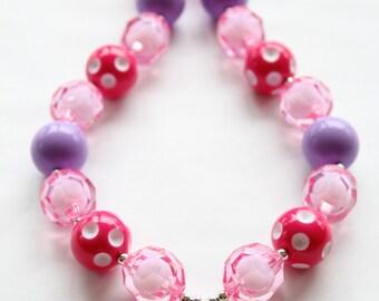 Minnie Mouse Bubblegum Necklace