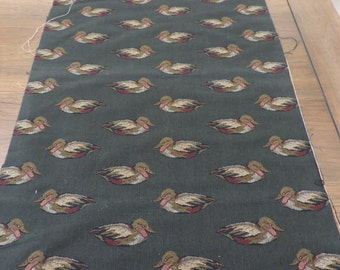 """Vintage Cotton Tapestry Duck Pattern 37""""x19"""""""