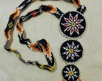 Southwestern - Hand Sewn Beaded Necklace