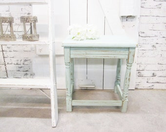 Side table Shabby Chic turquoise