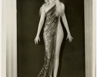 Vintage 1933 Photograph Delightfully Art Deco Risqué Pre-Code Hollywood Busby Berkeley Chorus Girl Lorena Andrews 42nd Street Musical Pin-Up