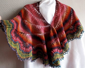 Shawl made from 100 percent wool