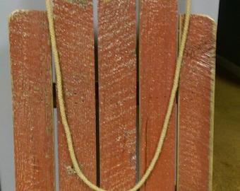 Reclaimed Barn Wood Decorative Sled