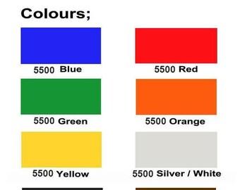 "Reflective Vinyl Sheets - Oralite 5500 - 9.8"" x 7.8"" (25 x 20 cm). 8 colors available. Decal Vinyl, Self Adhesive Vinyl, Craft Vinyl"