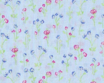 1 yd _ Hoffman - Dainty Blooms- Light Silver Shimmer